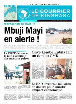 Les Dépêches de Brazzaville : Édition le courrier de kinshasa du 01 avril 2020