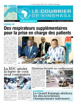 Les Dépêches de Brazzaville : Édition le courrier de kinshasa du 03 avril 2020