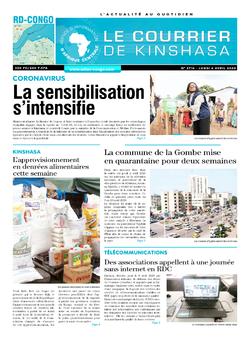 Les Dépêches de Brazzaville : Édition le courrier de kinshasa du 06 avril 2020