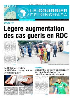 Les Dépêches de Brazzaville : Édition le courrier de kinshasa du 08 avril 2020