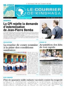 Les Dépêches de Brazzaville : Édition le courrier de kinshasa du 20 mai 2020