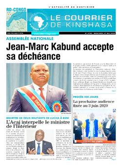 Les Dépêches de Brazzaville : Édition le courrier de kinshasa du 27 mai 2020