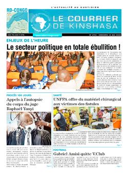 Les Dépêches de Brazzaville : Édition le courrier de kinshasa du 29 mai 2020