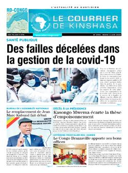 Les Dépêches de Brazzaville : Édition le courrier de kinshasa du 02 juin 2020