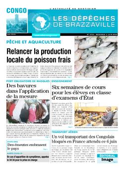 Les Dépêches de Brazzaville : Édition brazzaville du 03 juin 2020