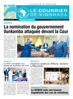 Les Dépêches de Brazzaville : Édition le courrier de kinshasa du 03 juin 2020