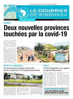 Les Dépêches de Brazzaville : Édition le courrier de kinshasa du 04 juin 2020