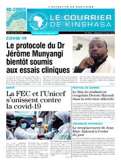 Les Dépêches de Brazzaville : Édition le courrier de kinshasa du 05 juin 2020