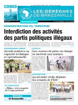 Les Dépêches de Brazzaville : Édition brazzaville du 03 juillet 2020