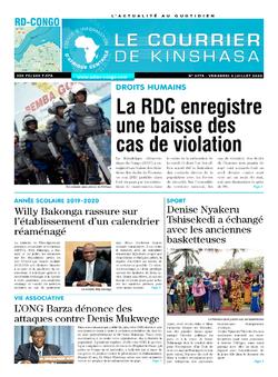 Les Dépêches de Brazzaville : Édition le courrier de kinshasa du 03 juillet 2020