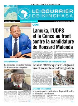 Les Dépêches de Brazzaville : Édition le courrier de kinshasa du 06 juillet 2020