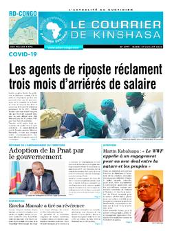 Les Dépêches de Brazzaville : Édition le courrier de kinshasa du 07 juillet 2020