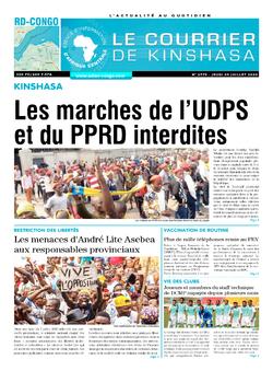 Les Dépêches de Brazzaville : Édition le courrier de kinshasa du 09 juillet 2020