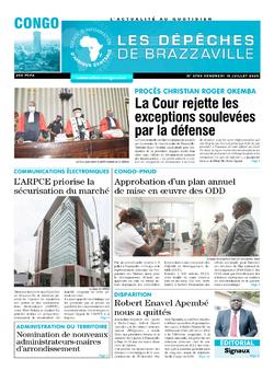 Les Dépêches de Brazzaville : Édition brazzaville du 10 juillet 2020