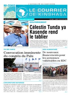 Les Dépêches de Brazzaville : Édition le courrier de kinshasa du 13 juillet 2020