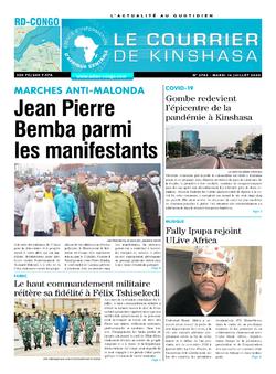 Les Dépêches de Brazzaville : Édition le courrier de kinshasa du 14 juillet 2020