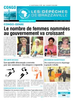 Les Dépêches de Brazzaville : Édition brazzaville du 03 août 2020
