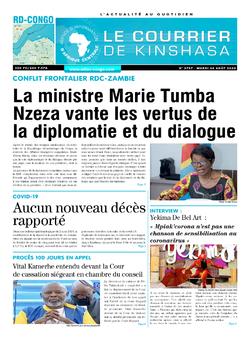 Les Dépêches de Brazzaville : Édition le courrier de kinshasa du 04 août 2020