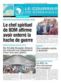 Les Dépêches de Brazzaville : Édition le courrier de kinshasa du 05 août 2020