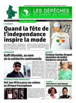 Les Dépêches de Brazzaville : Édition du 6e jour du 08 août 2020
