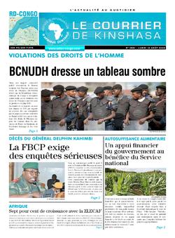 Les Dépêches de Brazzaville : Édition le courrier de kinshasa du 10 août 2020