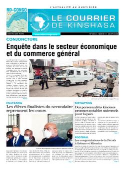 Les Dépêches de Brazzaville : Édition le courrier de kinshasa du 11 août 2020