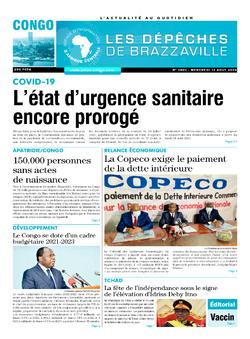 Les Dépêches de Brazzaville : Édition brazzaville du 12 août 2020