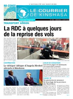 Les Dépêches de Brazzaville : Édition le courrier de kinshasa du 12 août 2020