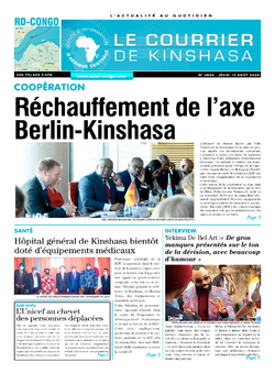 Les Dépêches de Brazzaville : Édition le courrier de kinshasa du 13 août 2020
