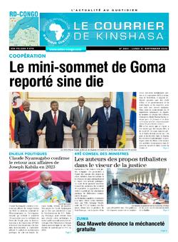 Les Dépêches de Brazzaville : Édition le courrier de kinshasa du 21 septembre 2020
