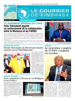 Les Dépêches de Brazzaville : Édition le courrier de kinshasa du 24 septembre 2020