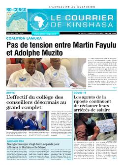 Les Dépêches de Brazzaville : Édition le courrier de kinshasa du 25 septembre 2020