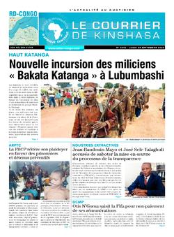 Les Dépêches de Brazzaville : Édition le courrier de kinshasa du 28 septembre 2020