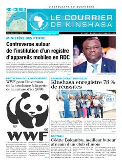 Les Dépêches de Brazzaville : Édition le courrier de kinshasa du 29 septembre 2020