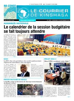 Les Dépêches de Brazzaville : Édition le courrier de kinshasa du 30 septembre 2020