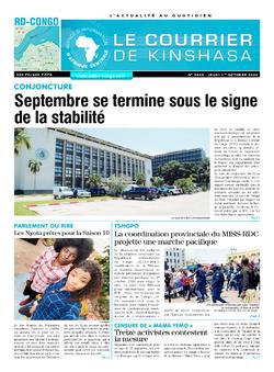 Les Dépêches de Brazzaville : Édition le courrier de kinshasa du 01 octobre 2020