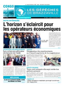 Les Dépêches de Brazzaville : Édition brazzaville du 19 octobre 2020