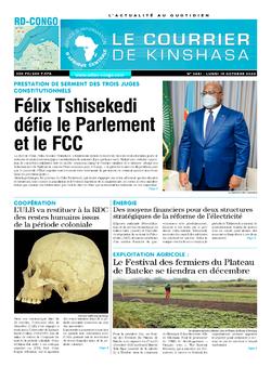 Les Dépêches de Brazzaville : Édition le courrier de kinshasa du 19 octobre 2020