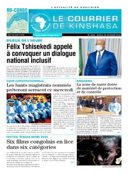 Les Dépêches de Brazzaville : Édition le courrier de kinshasa du 20 octobre 2020