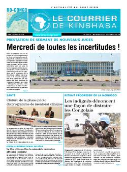 Les Dépêches de Brazzaville : Édition le courrier de kinshasa du 21 octobre 2020