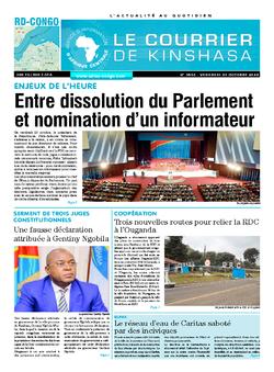 Les Dépêches de Brazzaville : Édition le courrier de kinshasa du 23 octobre 2020