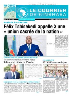 Les Dépêches de Brazzaville : Édition le courrier de kinshasa du 26 octobre 2020