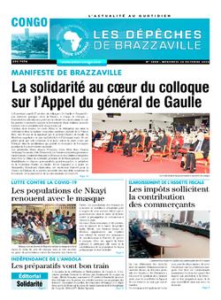 Les Dépêches de Brazzaville : Édition brazzaville du 28 octobre 2020