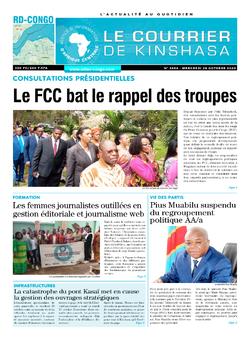 Les Dépêches de Brazzaville : Édition le courrier de kinshasa du 28 octobre 2020