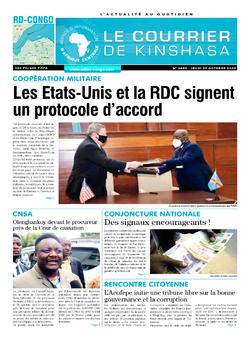 Les Dépêches de Brazzaville : Édition le courrier de kinshasa du 29 octobre 2020