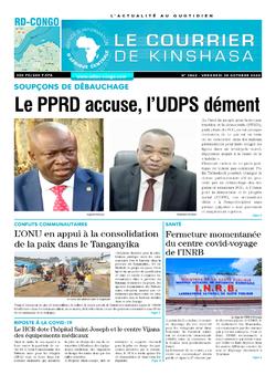 Les Dépêches de Brazzaville : Édition le courrier de kinshasa du 30 octobre 2020