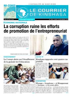 Les Dépêches de Brazzaville : Édition le courrier de kinshasa du 23 novembre 2020