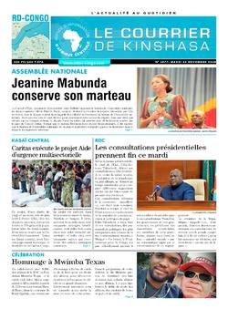 Les Dépêches de Brazzaville : Édition le courrier de kinshasa du 24 novembre 2020
