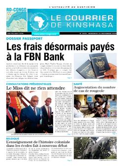 Les Dépêches de Brazzaville : Édition le courrier de kinshasa du 25 novembre 2020