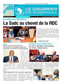 Les Dépêches de Brazzaville : Édition le courrier de kinshasa du 26 novembre 2020